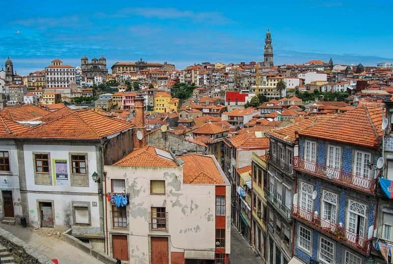 panoramica oporto portugal