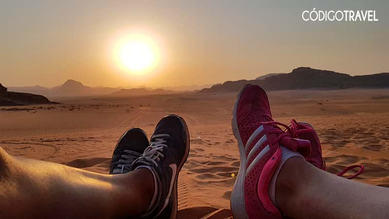 Atardecer desierto Wadi Rum